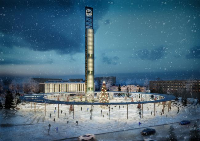 Концепция площади имени Ленина в Якутске