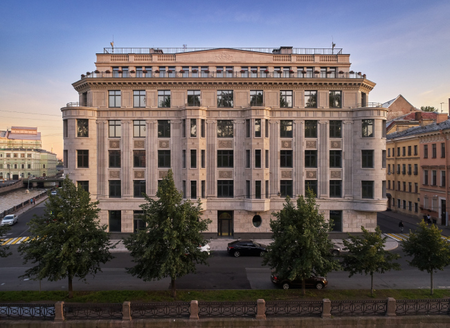 High-end residential complex Art View House on the Moika Embankment, 102, 2019