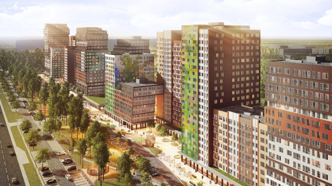 """Bunin"" housing complex. Birds-eye view"