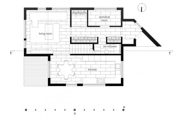 План первого этажа. Дом Ратниковых
