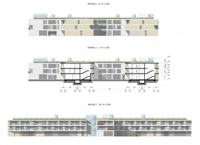 Фасады. Дом для проживания пожилых людей