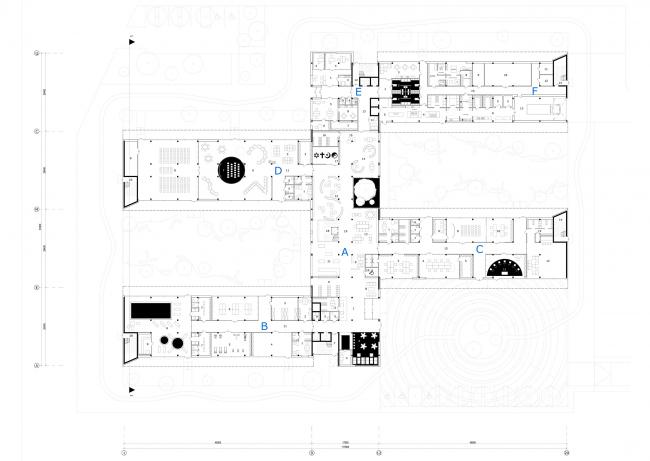 План первого этажа. Дом для проживания пожилых людей