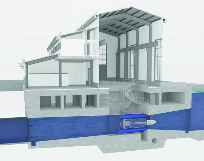 Вариант проекта здания Сегозерской МГЭС, разработанный в ARCHICAD
