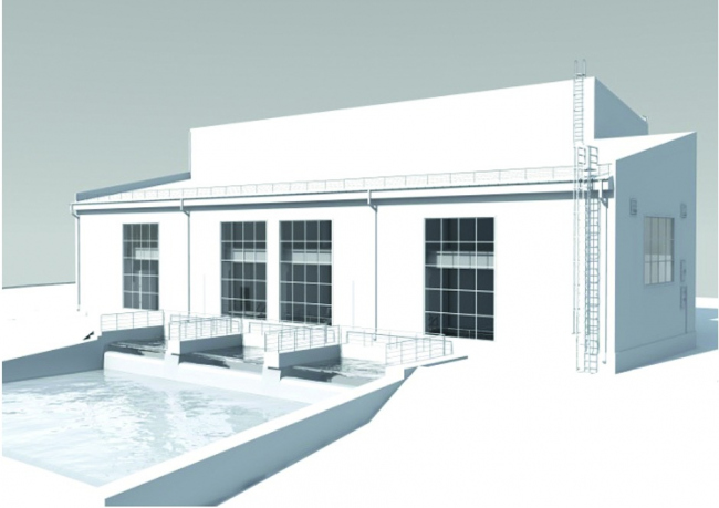 Визуализация здания Вехнебалкарской МГЭС
