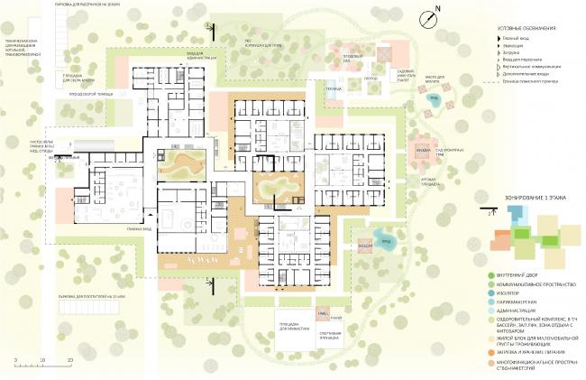 Мастерплан. Проект зданий стационарных организаций социального обслуживания граждан старших возрастных групп