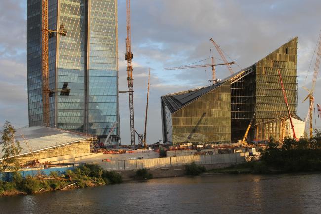 Лахта-центр (RMJM, Горпроект) в процессе строительства