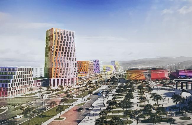 Новый центр Южно-Сахалинска