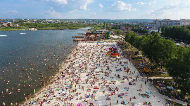 Туристическо-рекреационная зона «Пляж» в Альметьевске