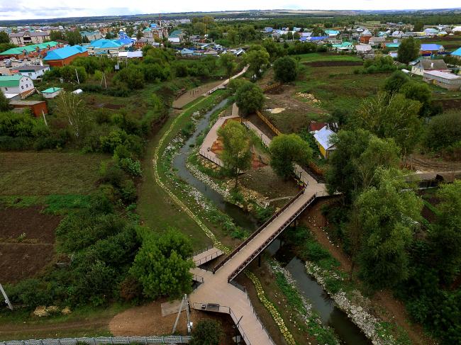 Набережная реки Тюлячка, село Тюлячи, Республика Татарстан