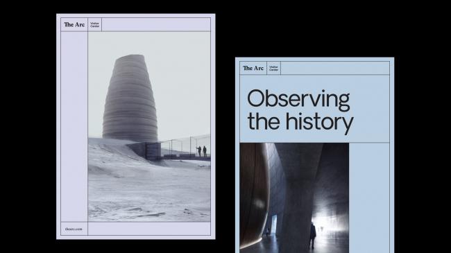 Посетительский центр The Arc. Проект полиграфической продукции, разработанный Snøhetta