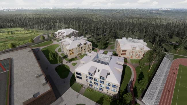 Гимназия им. Е.М. Примакова, 2 очередь. Общежития для учащихся