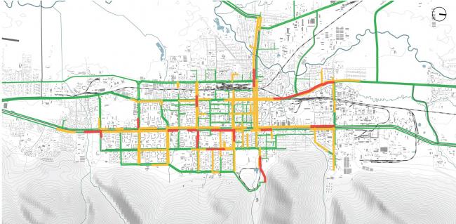 Загруженность дорог в утренний час пик Южно-Сахалинск концепция пространственного развития города.