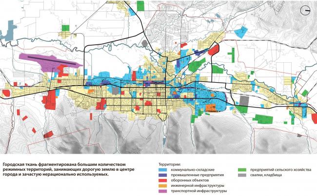 Состав производственных зон Южно-Сахалинск концепция пространственного развития города.