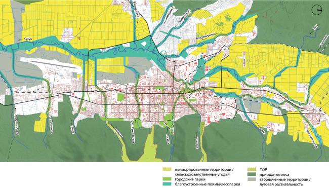 Природно-экологический каркас Южно-Сахалинск концепция пространственного развития города.