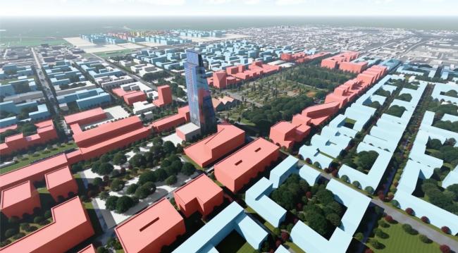 Вид на центр города с северо-запада Южно-Сахалинск концепция пространственного развития города.