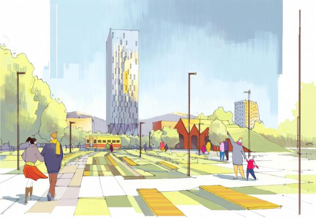 Вид из парка Южно-Сахалинск концепция пространственного развития города.