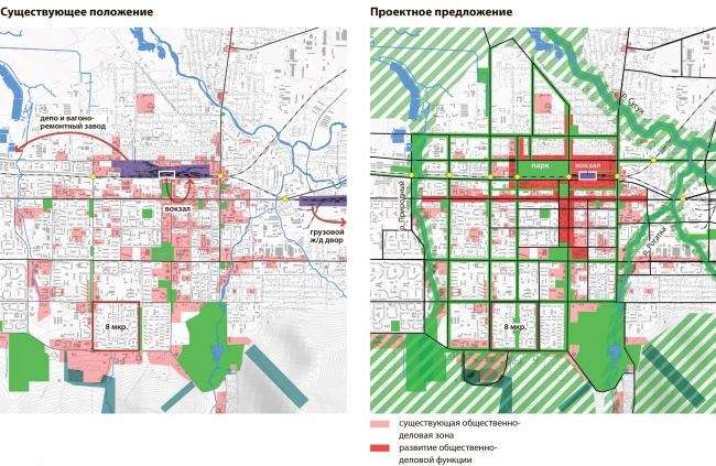 Предложение по развитию центра города Южно-Сахалинск концепция пространственного развития города.