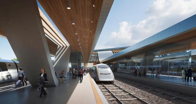 Вокзал Rail Baltica в Юлемисте