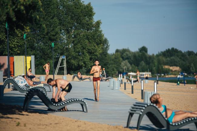 Благоустройство городского пляжа в Зеленодольске
