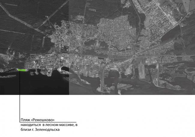 Благоустройство городского пляжа в Зеленодольске. Генплан