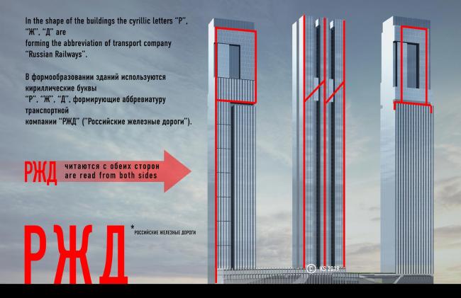 Вариант 1  Концепция формообразования. Эскизный проект небоскребов РЖД