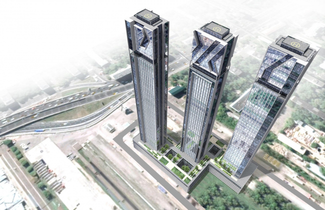 Version 2. The sketch project of RZD skyscrapers
