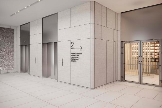 Лифт в лобби. БЦ Stone на Белорусской.