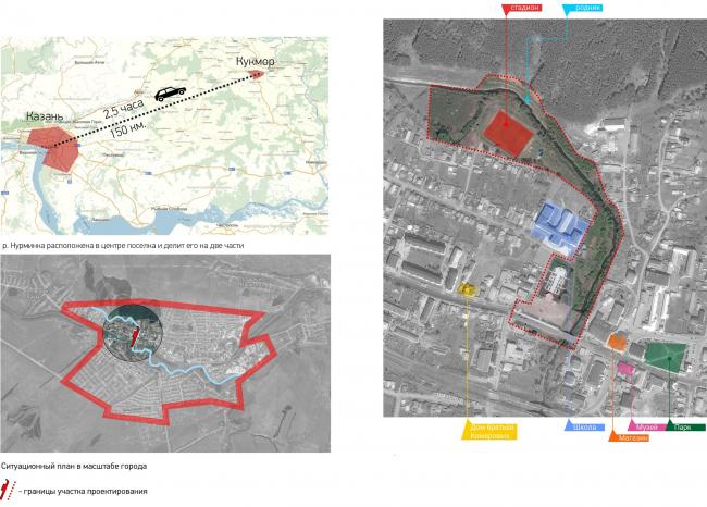 Ситуационный план. Набережная реки Нурминка