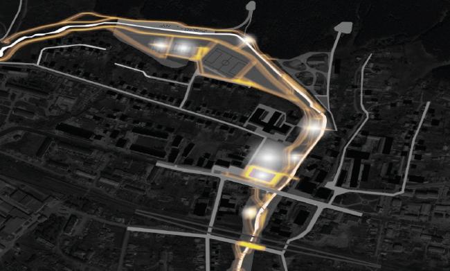 Схема освещения. Набережная реки Нурминка