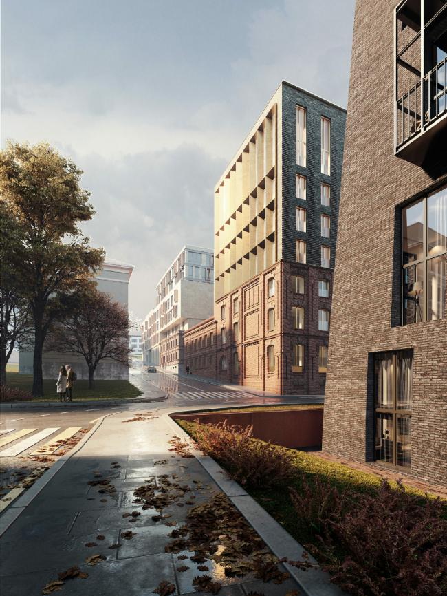 Проект реконструкции здания на Большом Николоворобинском переулке с приспособлением под жилье.