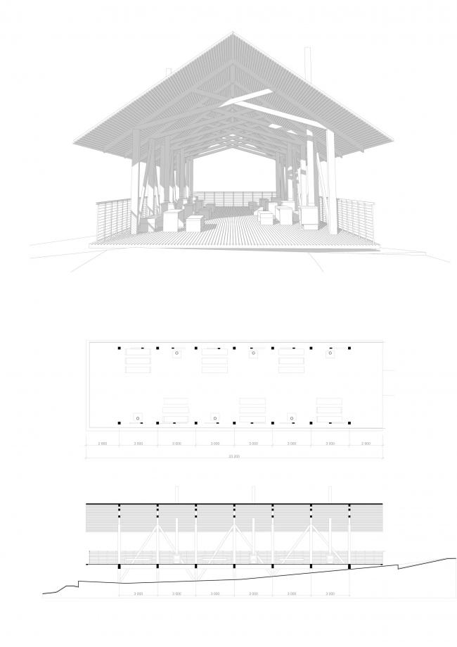 Открытый павильон. Проект развития территории Мытищинской Ярмарки