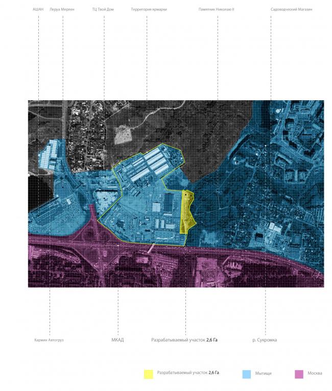 Ситуационный план. Проект развития территории Мытищинской Ярмарки