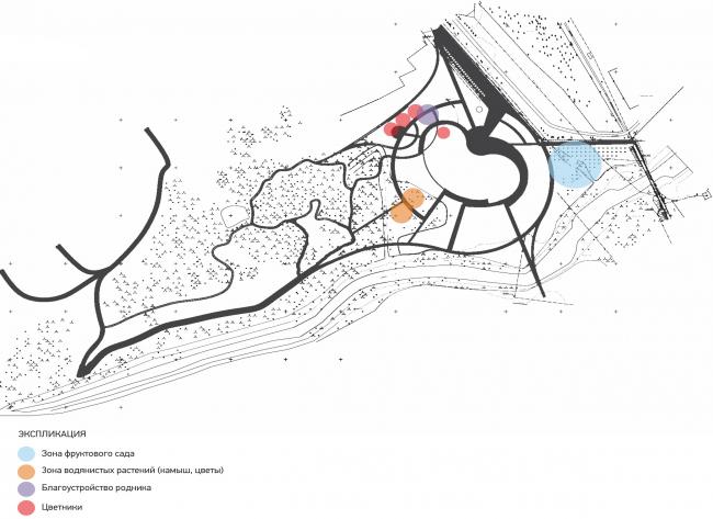 Схема озеленения в разработке. Набережная «Казан Су»