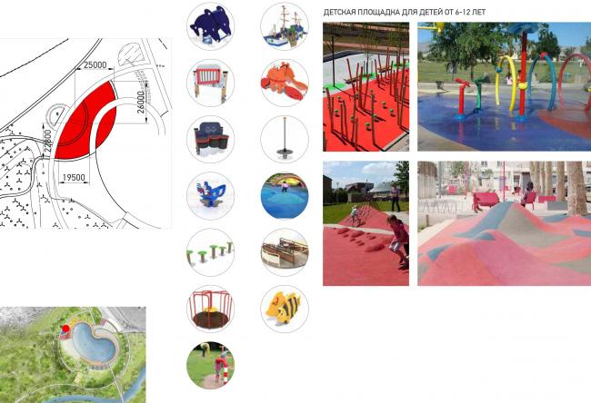 Детская площадка. Набережная «Казан Су»
