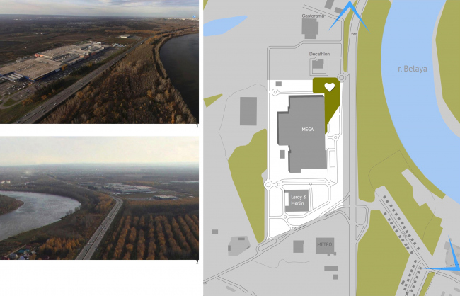 Ситуационный план и контекст. Парк Yurack Idel (парк Сердечная река)