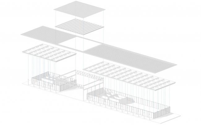 Взрыв схема. выставочный павильон. Проект развития территории Мытищинской Ярмарки