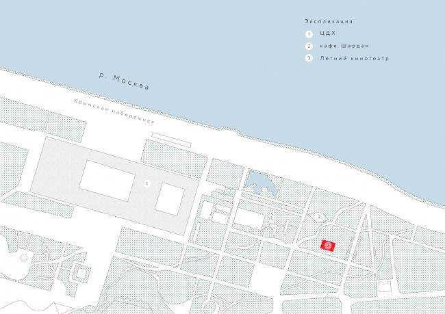 Ситуационный план комплекса. Летний кинотеатр в парке искусств «Музеон»