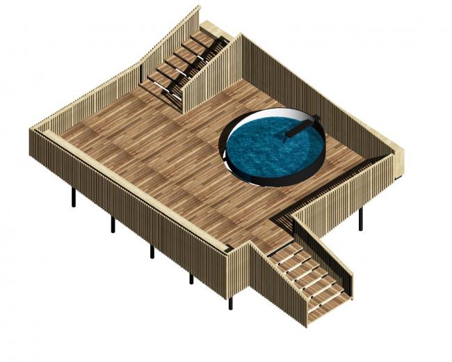 Схема резервуара для набора воды на территории «Святого ключа». Биляр – древняя столица Татарстана