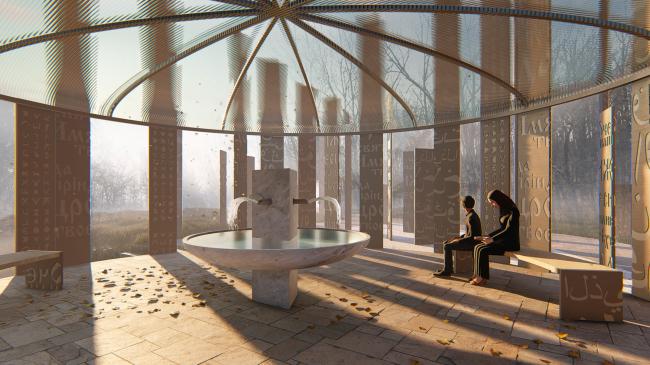 Интерьер павильона с источником «Святой ключ». Биляр – древняя столица Татарстана