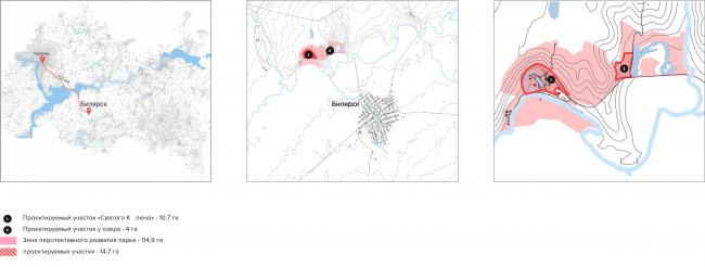 Ситуационный план историко-культурного парка в сельском поселении Билярск. Биляр – древняя столица Татарстана