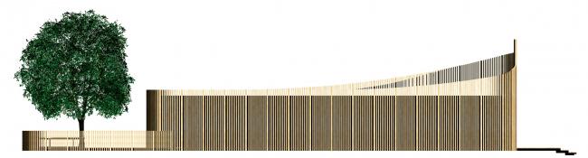 Боковой фасад павильона для ритуала омовения на территории «Святого ключа». Биляр – древняя столица Татарстана
