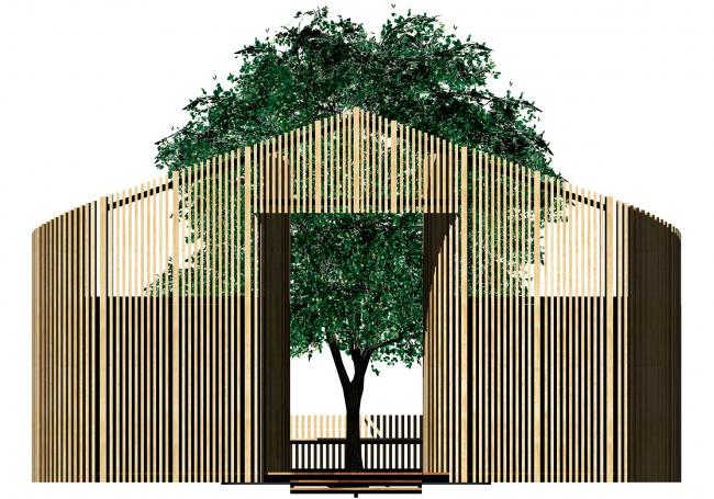 Фасад павильона для ритуала омовения на территории «Святого ключа». Биляр – древняя столица Татарстана
