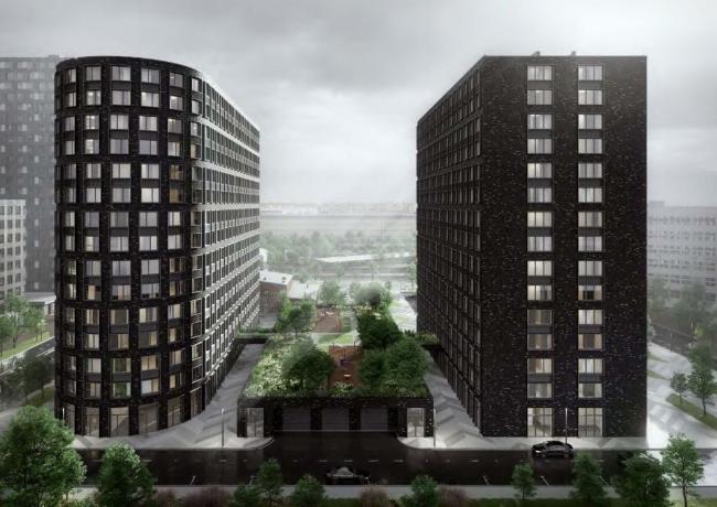 Черный многофункциональный жилой комплекс