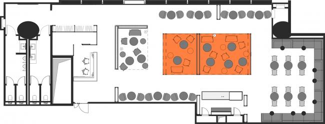 План мебели. Бизнес-зал «Горизонт» аэропорта Платов