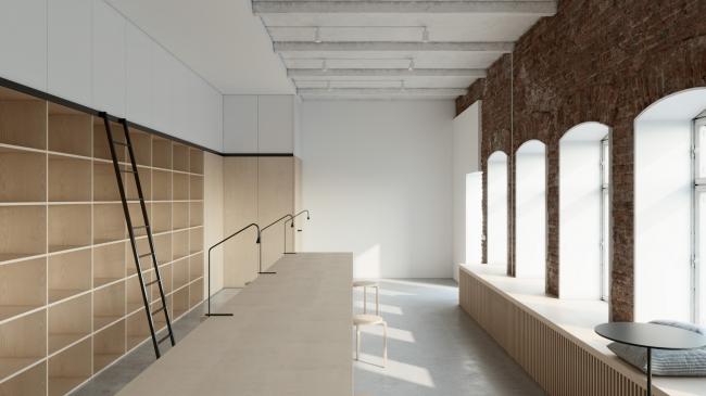 Общий вид. Творческая мастерская в историческом здании