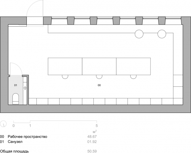 План. Творческая мастерская в историческом здании