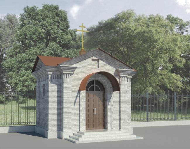 Проект часовни на территории храма Воскресения Христова в Кадашах. ЖК «Мененат» в Кадашах