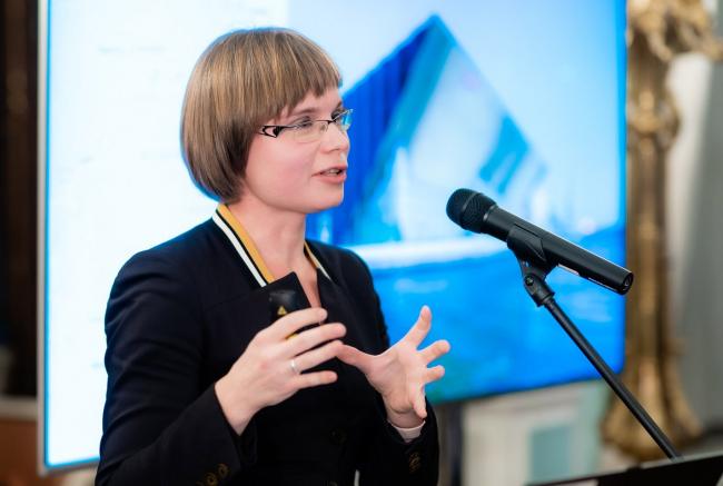 Анна Мартовицкая на презентации путеводителя