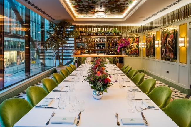 Ресторан The Ivy Spinningfields в Павильоне на Хардман-сквер