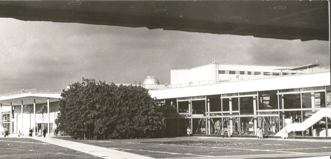 Дворец пионеров на Ленинских горах. Вид от концертного зала